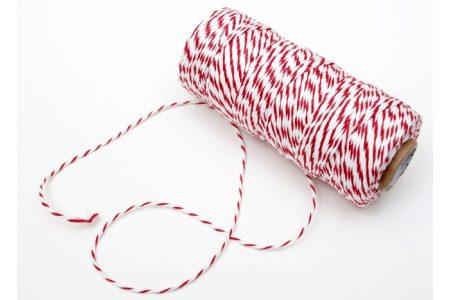 Шпагат котоновый 1,0мм бело-красный