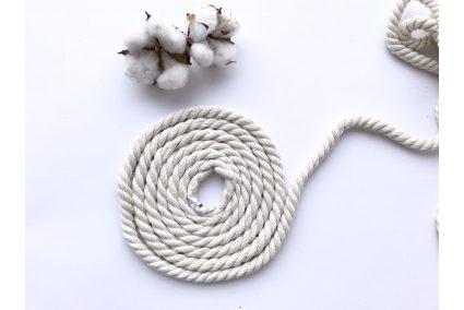 Шнур хлопковый крученый 8 мм белый