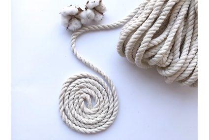 Шнур хлопковый крученый 10 мм белый