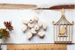 Бусина гексагоновая деревянная 22*15мм