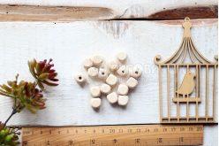 Бусина кубическая деревянная 12*12мм