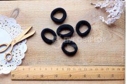 Резинка безшовна для волосся 2,7 см чорна