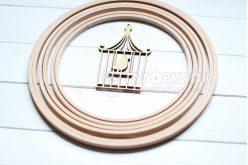 Набор колец деревянных для мобиля 19 см Nurge 5 шт.
