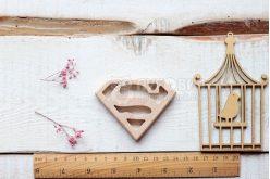 """Гризунок дерев'яний """"Значок супермена"""""""
