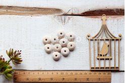 Бусина круглая плоская деревянная 20 мм