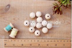 Бусина шар яворовая 16 мм