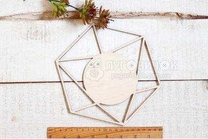 """Заготовка дерев'яна """"Діамант"""" 20*17*0,3 см"""