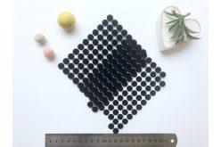 Липучка кругла 10мм чорна (1+1)