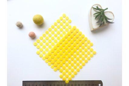 Липучка кругла 10мм жовта (1+1)