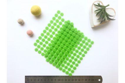 Липучка кругла 10мм зелена (1+1)