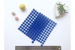 Липучка кругла 10мм синя (1+1)