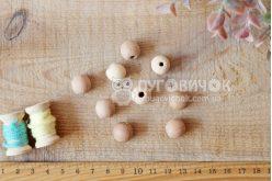 Бусина шар яблоневая 13 мм