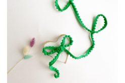 Тесьма с помпонами зеленая 5мм