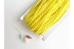 Тасьма з помпонами жовта 5мм (бобіна)