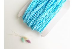 Тасьма з помпонами блакитна 5мм (бобіна)