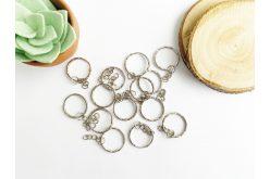 Заготовка для брелока рефленое кольцо 25мм серебряная