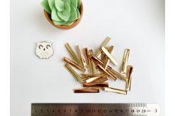 Заготовка для заколки прямая 4,6 см золотая