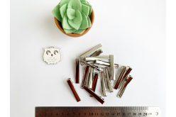 Заготовка для заколки прямая 5,5 см серебряная