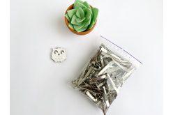Заготовка для заколки зігнута 4,5 см (упаковка) срібна