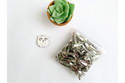 Заготовка для заколки прямая 3,2 см (упаковка) серебряная