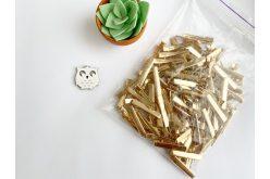 Заготовкадлязаколкипряма4,6см (упаковка)золота
