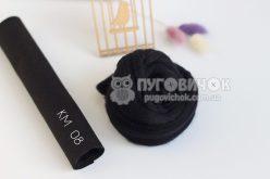 Вовна для валяння №350 чорний 22-24мкм (50г)