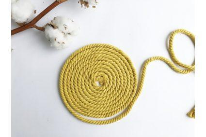 Шнур бавовняний кручений 6 мм жовтий