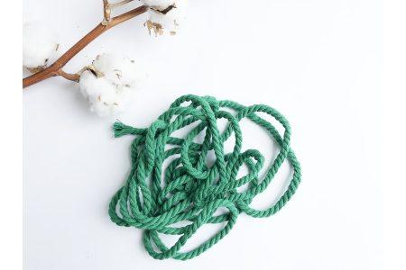 Шнур бавовняний кручений 6 мм зелений