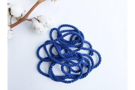 Шнур бавовняний кручений 6 мм синій