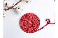 Шнур хлопковый крученый 6 мм красный
