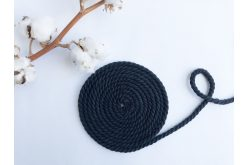 Шнур хлопковый крученый 6 мм черный