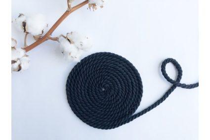 Шнур бавовняний кручений 6 мм чорний