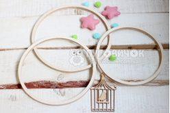 Набор колец деревянных (фанерных) для мобиля 20 см. 5 шт