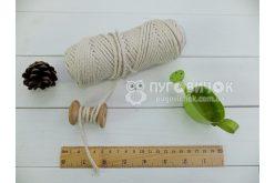 Шнур хлопковый 2,8мм белый (50м) бобина