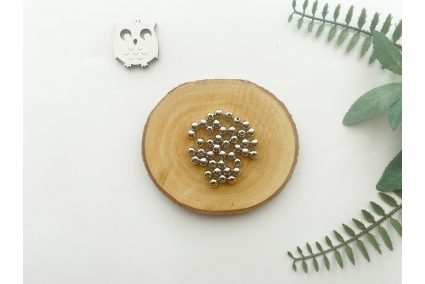Намистина 06 мм. срібло (10гр.) упак