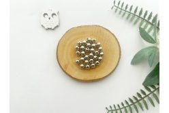 Бусина 08 мм. серебро (10гр.) упак