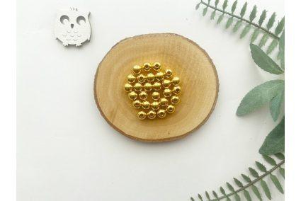 Бусина 08 мм. золото (10гр.) упак